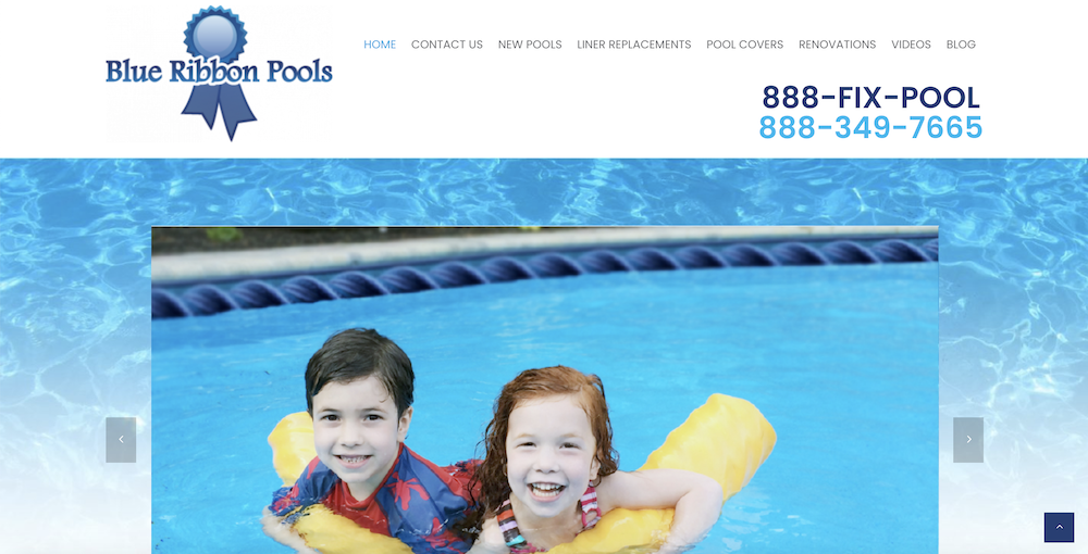 Blue Ribbon Pools Launches A New Website